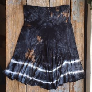 Tie Dyed Jersey Skirt